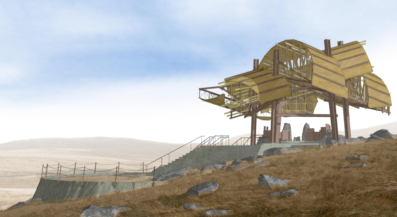 Pavilion for Oblivion (2007) slope view