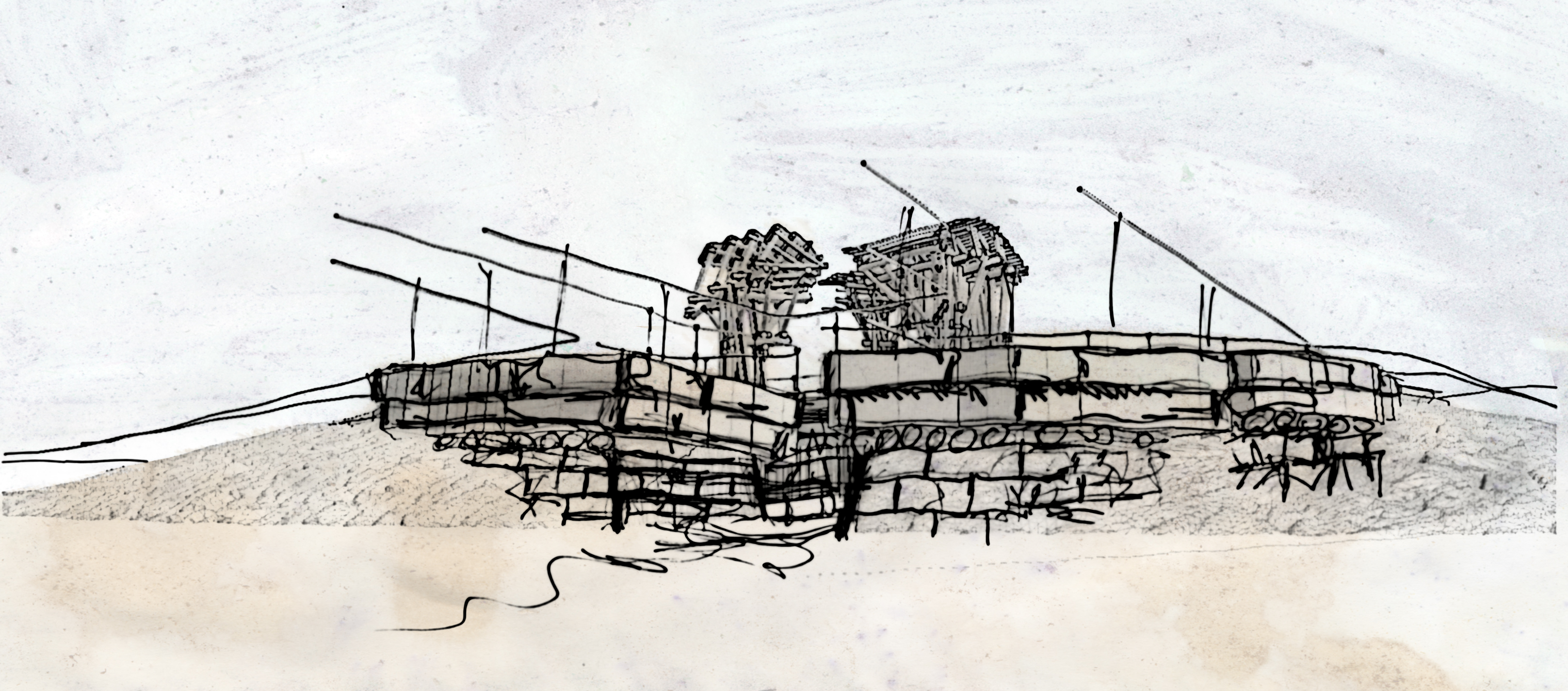 Future Monument (2009) bermed pond concept sketch