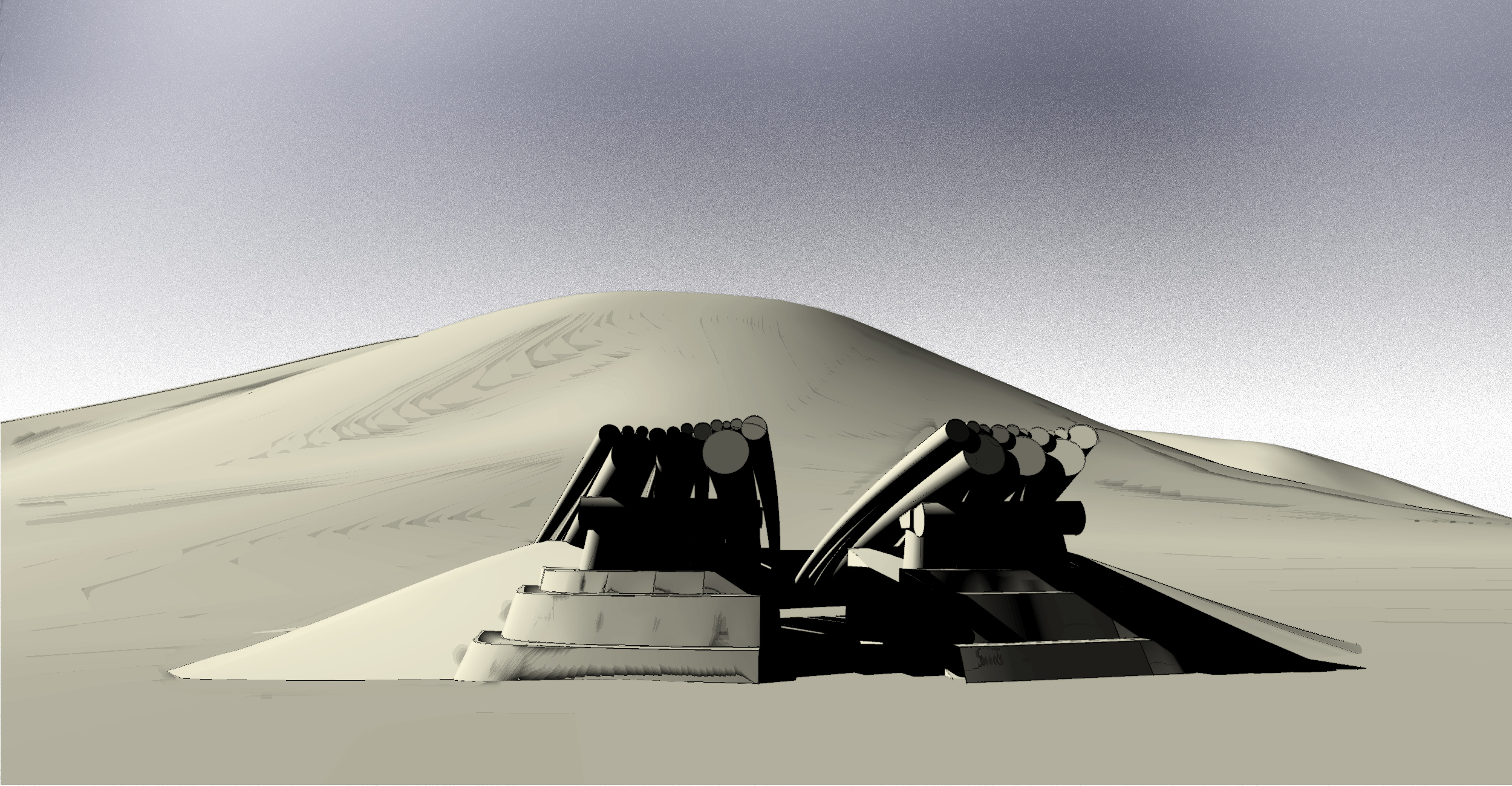 Future Monument (2009) berm concept development