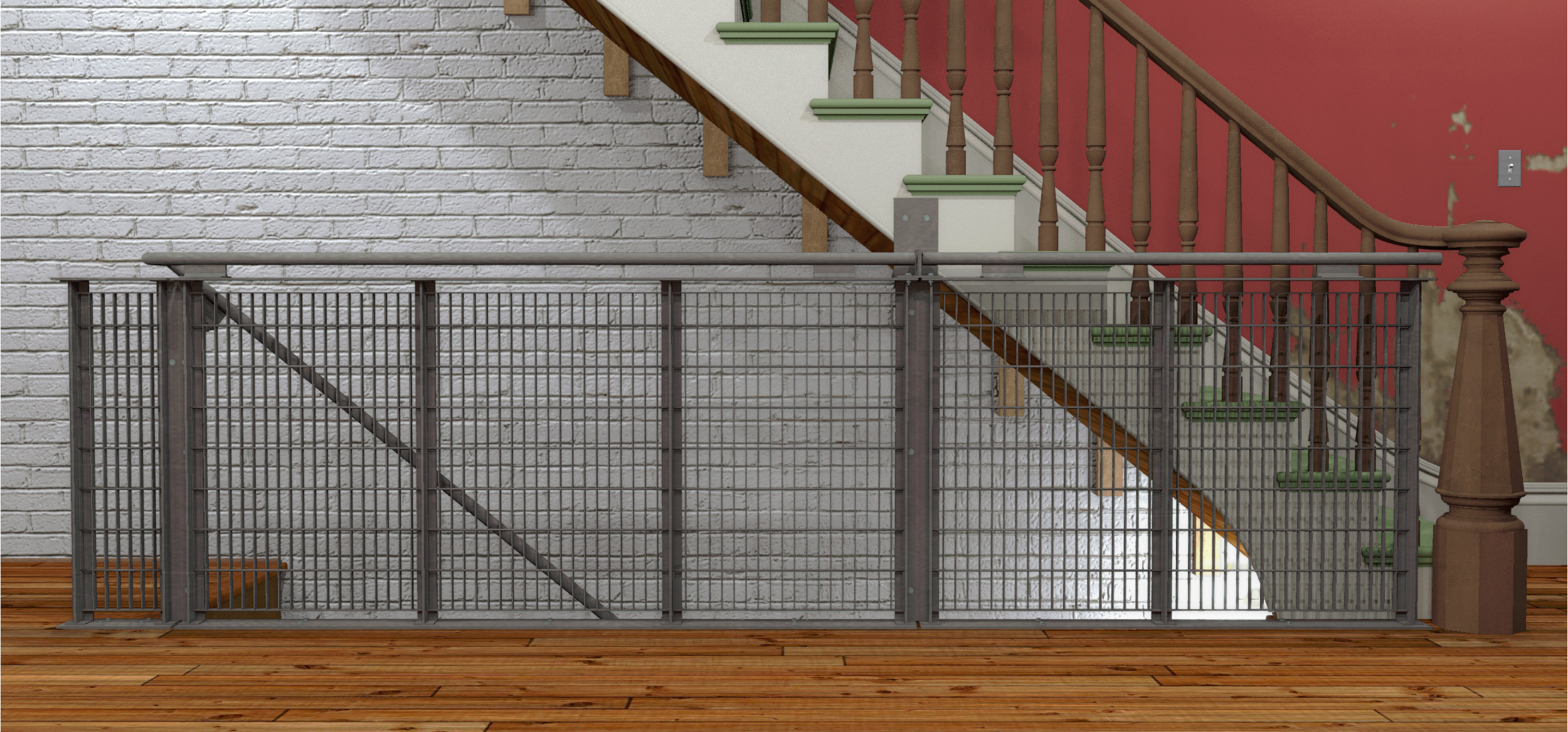 Subway Grate Guardrail (2016) side view preliminary rendering