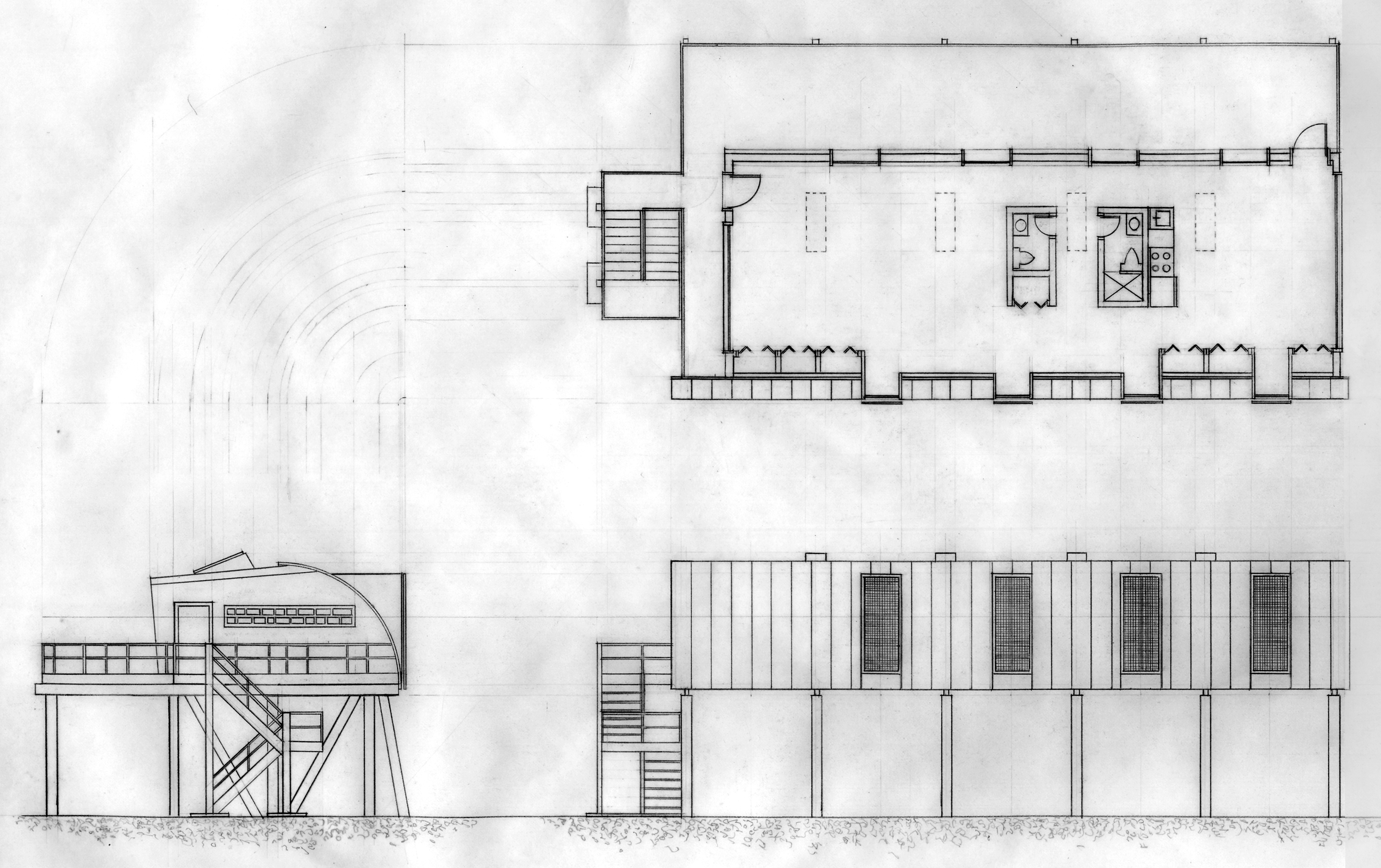 Hurricane House elevations & plan (2001)