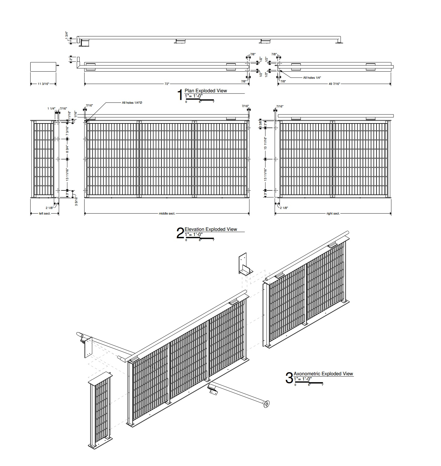 Subway Grate Guardrail (2016) construction documents sample