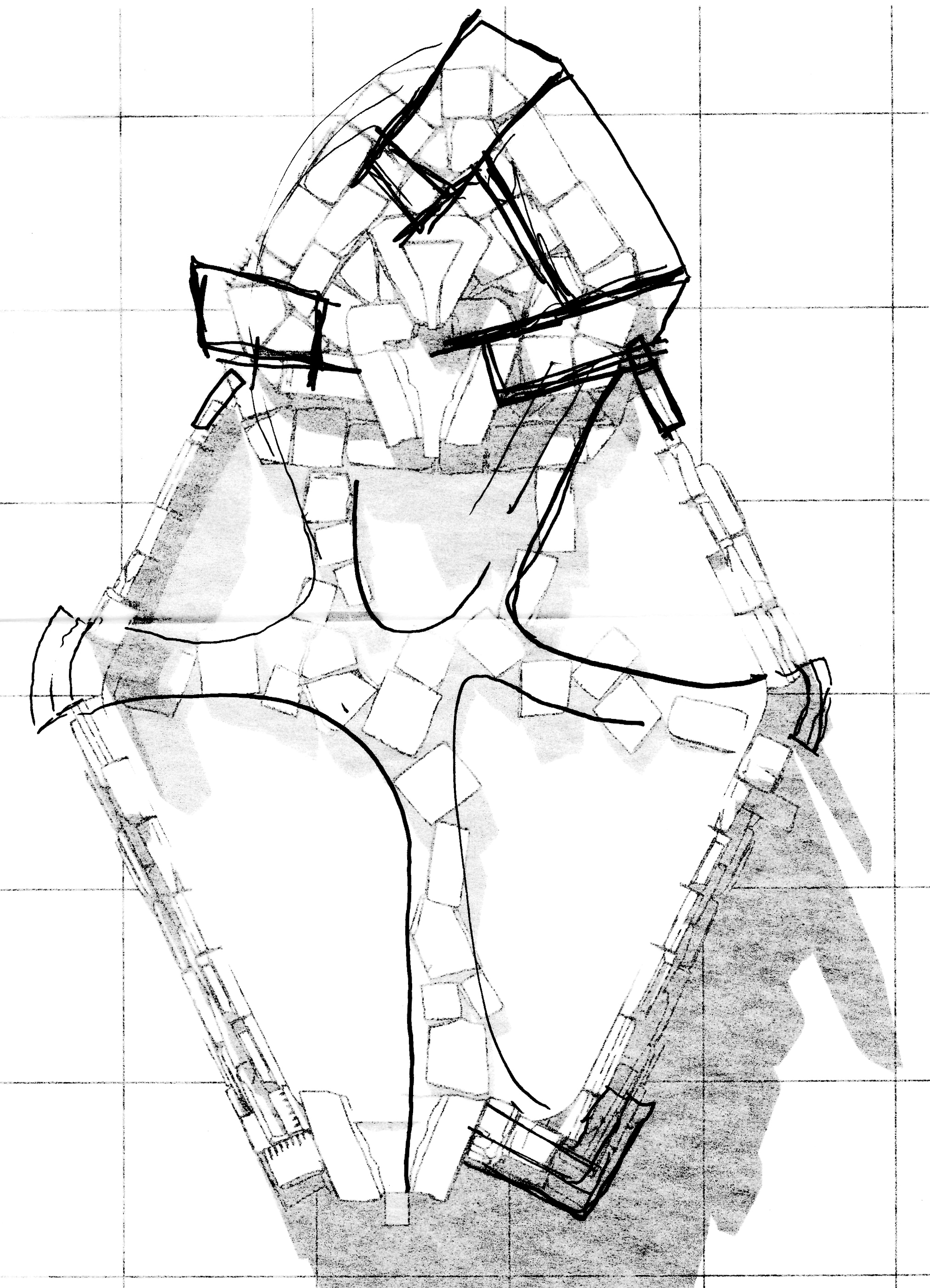 Future Monument (2009) rhombus pool sketch plan