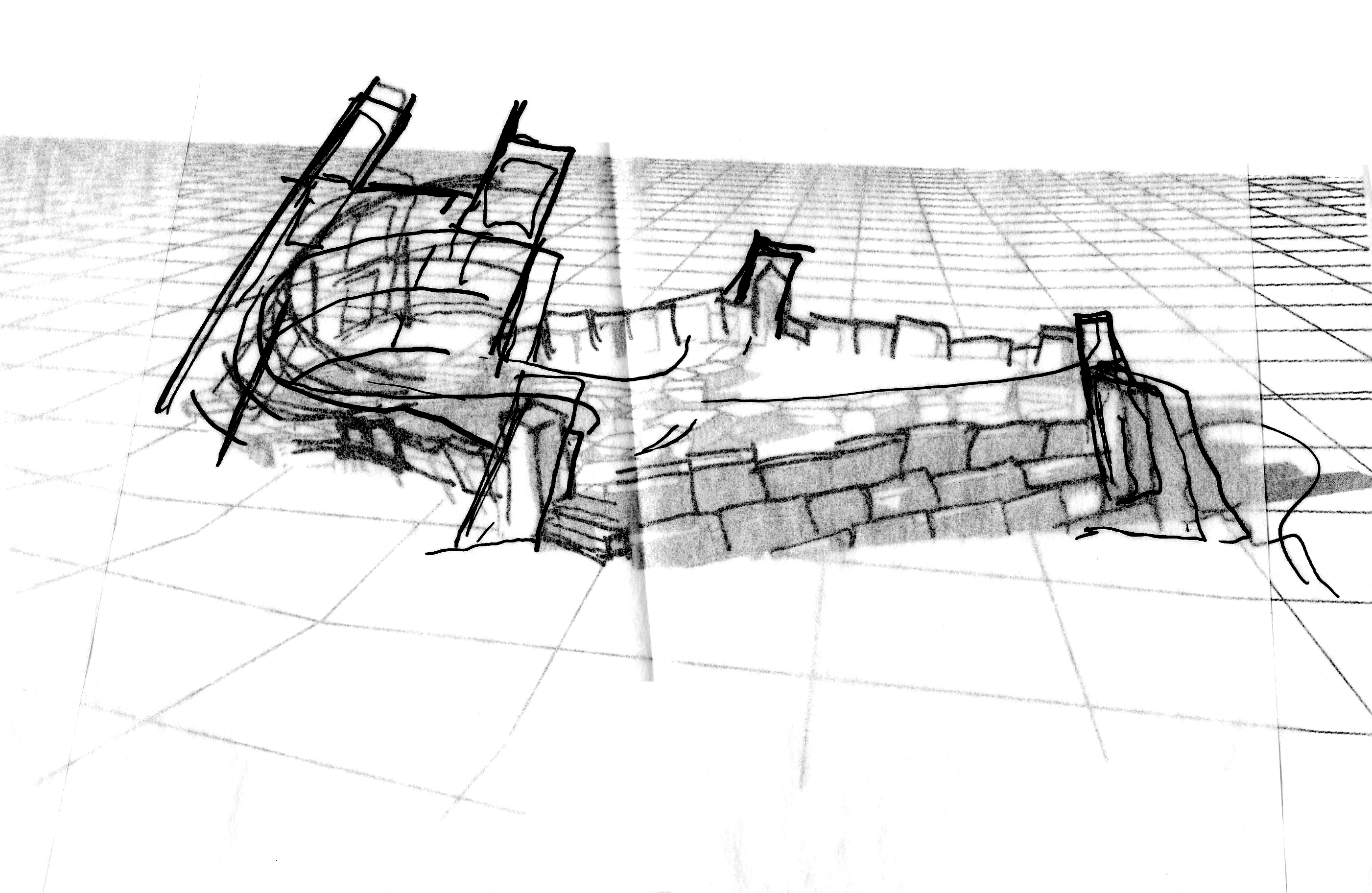 Future Monument (2009) rhombus pool sketch