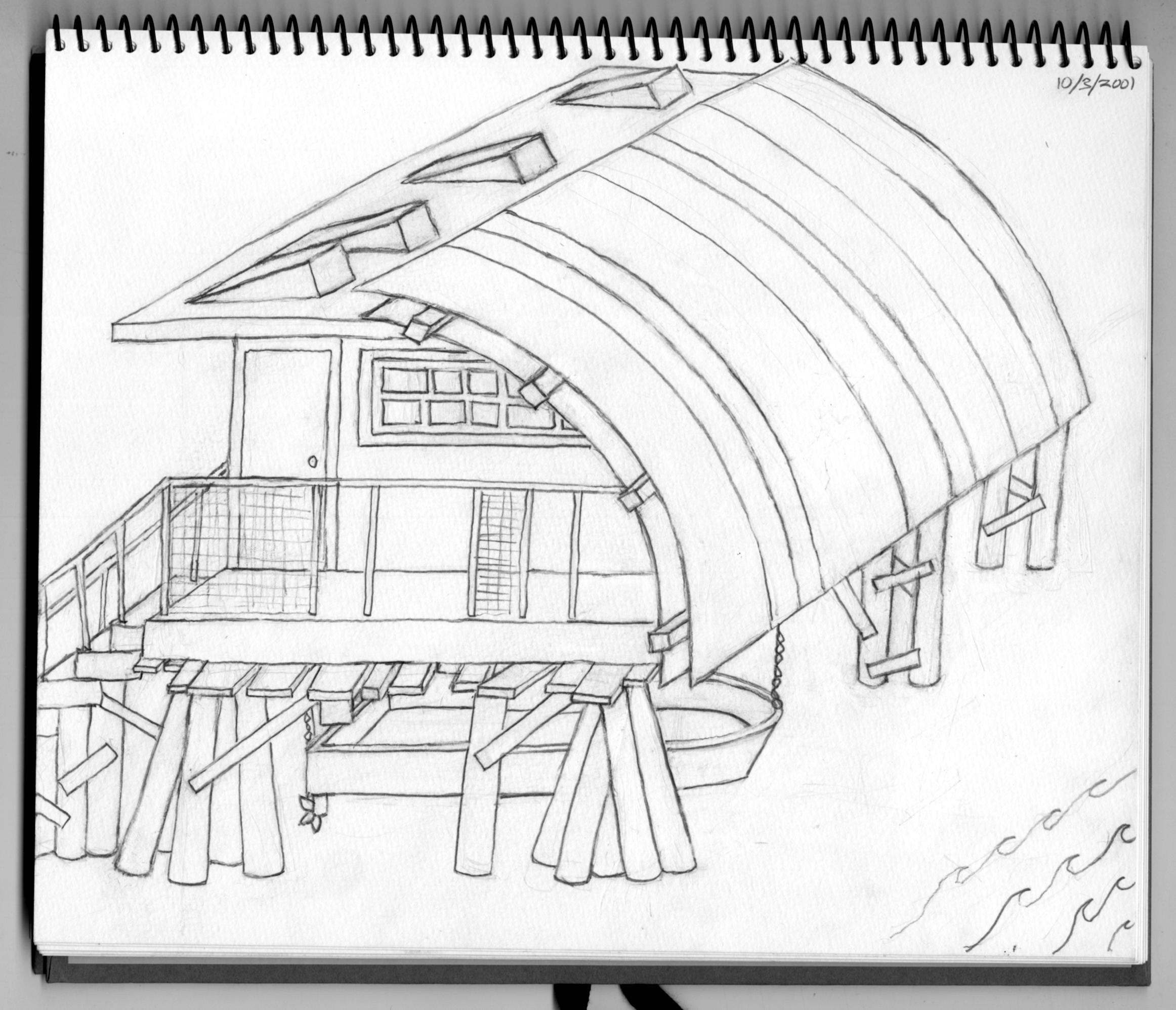 Hurricane House sketch (2001)