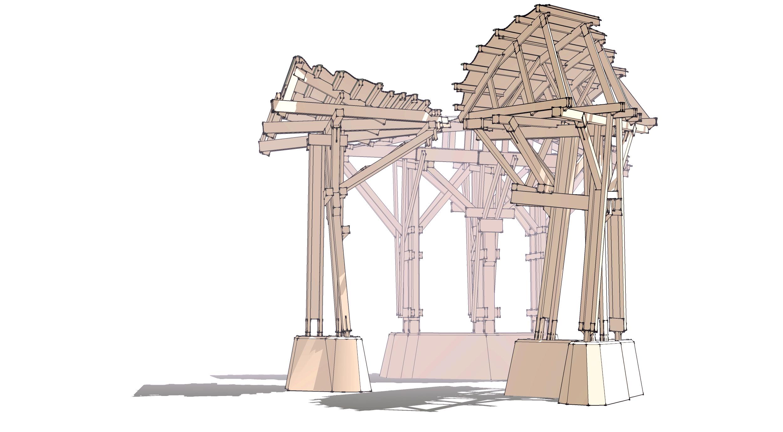 Future Monument (2009) telamones study